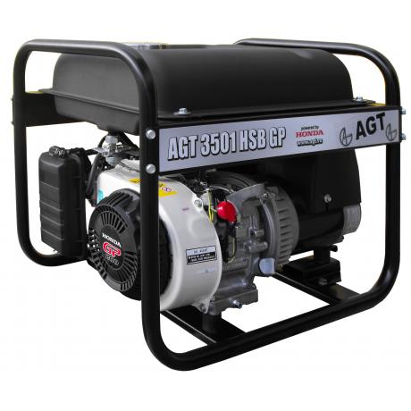 AGT 3501 HSB R 16 GP Generator curent ,putere motor  3.000 W ,tip motor Honda GP 200 ,rezervor 16 l , capacitate cilindrica 196 cmc