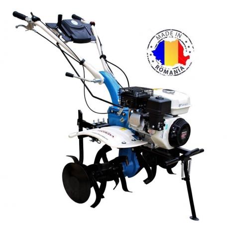 AGT 7580 Motosapa Premium , motor Honda GP 200, 6,5 HP , transmie cu ambreiaj , cutie de viteze din fonta cu roti in baia de ulei