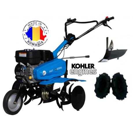 Motosapa agt 5580 s motor kohler cu plug de bilonat si roti pneumatice