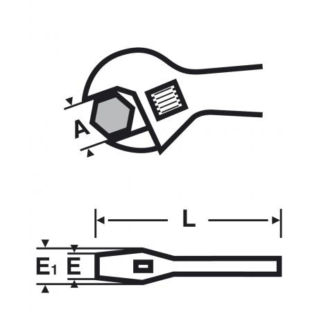 Cheie reglabilă cu mâner îmbrăcat şi deschidere largă  1.1/4