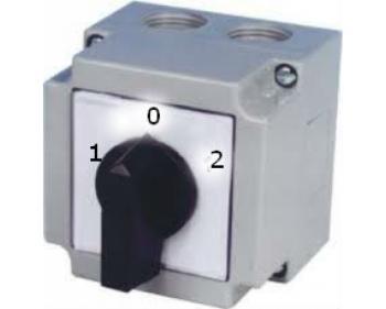 KKM1-32-6129 Comutator 1-0-2 pentru generatoare