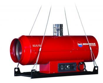 EC/S 55 Tun de caldura suspendat cu ardere directa Biemmedue , putere 55 kW , motorina