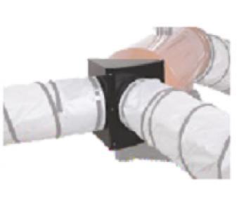 ACC193 Calore , Adaptor metalic  2 iesire aer  , 1 x 350 mm , potrivit pentru modelul EC 55