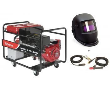 Pachet generator de sudura Honda HW 220 + Kit sudura 3 m + masca sudura cu cristale lichide