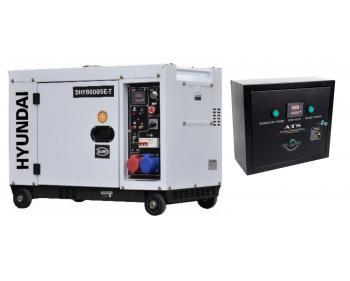 DHY8600SE-T Hyundai Generator de curent electric trifazat cu automatizare