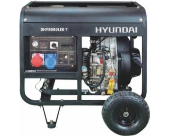 DHY8000LEK-T  Hyundai Generator de curent diesel  ,  putere 5.5 kVA , motor Hyundai