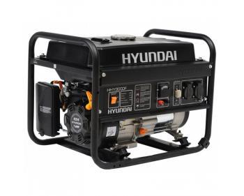 HHY300F Hyundai  Generator  de curent monofazic  , putere maxima 2.6 kW , tip motor Hyundai IC210 , rezervor in baia de  ulei 0.6 l