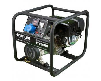 HY9000 Hyundai  Generator  de curent monofazic  , putere maxima 6 kW , tip motor Hyundai IC420 , rezervor in baia de  ulei 1.1 l