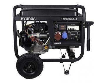 HY9000LEK-3 Hyundai Generator de curent electric trifazat ,  putere motor 8 kVA , tip motor Hyundai IC425E