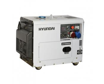DHY8000SE-T Hyundai Generator de curent electric trifazat ,  putere 6.3 kVA , tip motor Hyundai D500E