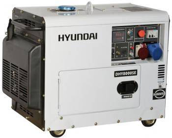 Generator de curent trifazat cu motor diesel hyundai dhy8500se t