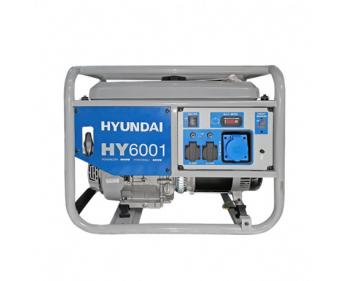 HYUNDAI HY6001 Generator de curent monofazat,putere 15 CP, 6,6 kW ,rezervor 25 l,capacitate baie ulei 1,1 l,AVR,cod HY6001