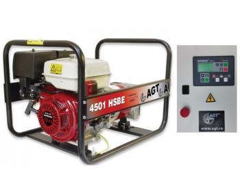 AGT 4501 HSBE  AT 408 Generator curent automatizat  , motor Honda 9 cp  , putere 4.2 kVA , monofazat