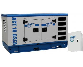 AGT 18 DSEA + ATS 22 S Generator diesel stationar , putere 16.5 kVA ,cu bujii incandescente si preincalzire lichid , turatii 1500 rpm