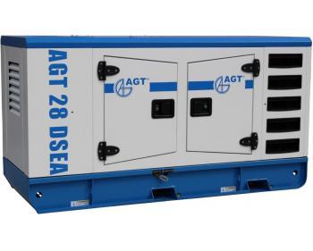 Generator curent trifazat AGT 28 DSEA ,putere motor 28 kVA , diesel , cu bujii incadescente si preincalzire lichid