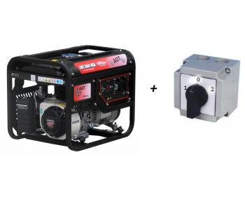 Pachet AGT 3501 HSB TTL GP 200 Generator curent 3 kVA  motor Honda + Comutator Siguranta  1-0-2 KKM
