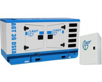 Generator curent cu pornire automata  AGT 36 DSEA cu ATS 42S/24 , putere 36 kVA , diesel , cu bujii incandescente si preincalzire lichid