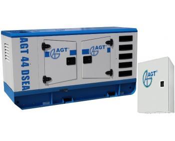 AGT 44 DSEA Generator curent trifazat  , putere motor 44 kVA , diesel , motor 4 cilindri , cu bujii incandescente si preincalzire lichid
