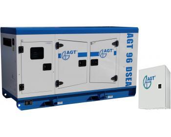Generator cu pornire automata AGT 96 DSEA ATS 97 S/24 , putere 94 kVA , racire cu lichid , bujii incandescente si preincalzire lichid