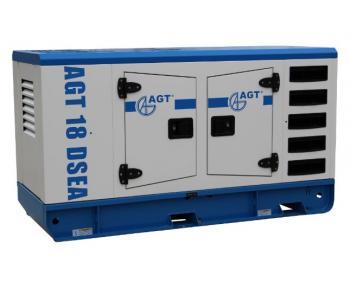 AGT 18 DSEA Generator curent diesel stationar , putere 18 kVA  trifazat ,cu bujii incandescente si preincalzire lichid , 1500 rpm