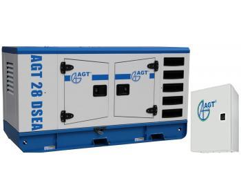Generator curent trifazat AGT 28 DSEA ATS 42/12 ,putere motor 28 kVA , diesel , cu bujii incadescente si preincalzire lichid