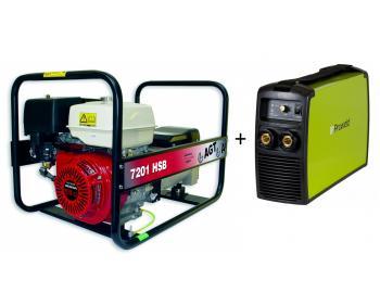 Pachet AGT 7201 HSB SE + MMA 160  Generator curent 6 kVA cu aparat de sudura Inverter