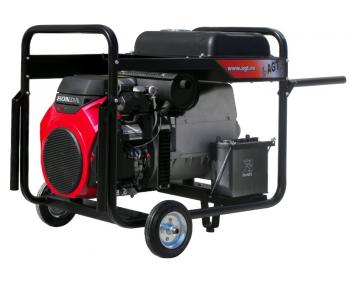 Generator trifazat de curent electric  AGT 16003 HSBE R16 , motor HONDA , demaror electric 12 V