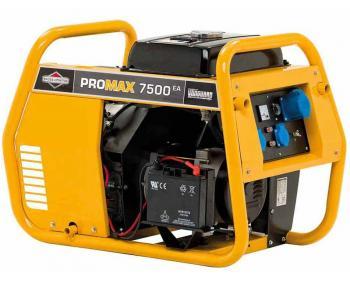 Promax 7500EA Briggs&Stratton Generator de curent electric monofazat cu putere maxima de 7.5 kVA si capacitate combustibil de 13L
