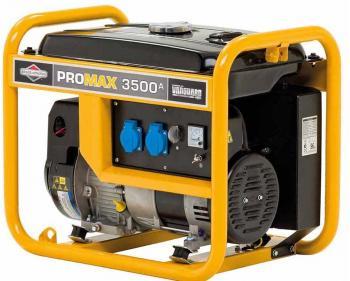 Promax 3500 A Briggs&Stratton Generator de curent electric monofazat cu putere maxima de 3.5 kVA si capacitate combustibil de 11L