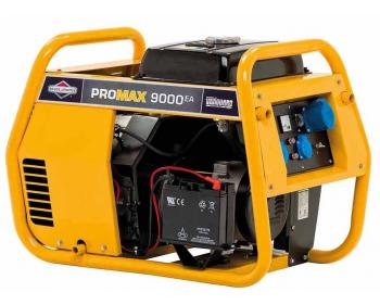 Promax 9000 A Briggs&Stratton Generator de curent electric monofazat cu putere maxima 9.0 kVA si capacitate combustibil 17L
