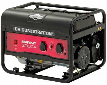Sprint 3200A Briggs&Stratton Generator de curent electric monofazat pe benzina cu putere maxima de 3125 kVA si capacitate rezervor de 11L