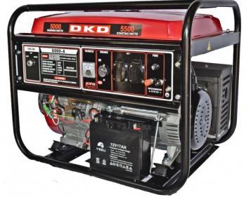 DKD LB 6000 E Dakard Generator de curent monofazat cu pornire electrica si putere maxima 5.5kw , cod DKDLB6000E