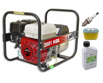 Pachet AGT 3501 HSB SE GX 200 Generator curent electric 3.000 W cu motor Honda + Kit intretinene