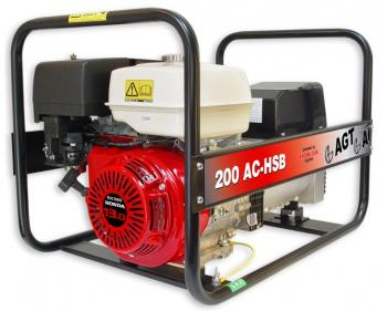WAGT 200 AC HSB SEGenerator sudura de santier , motor Honda OHV  putere motor  7 kW , sudura 200 A