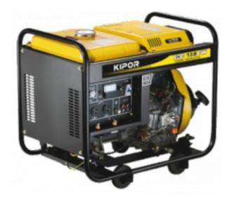 KDE 180 EW Kipor Generator de curent pentru sudura Diesel , putere motor 2,8 kVA