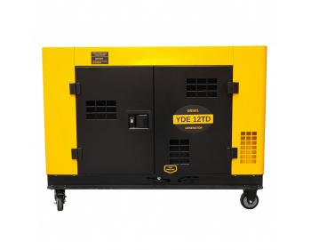 YDE12TD  Stager Generator de  curent  cu pornire electrica ,  3000rpm ,  diesel , monofazat