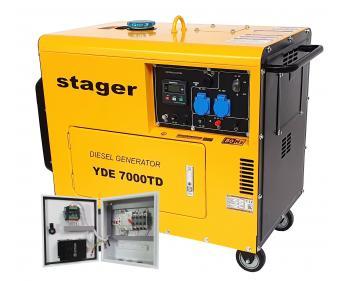 Generator de  curent , putere 4.5 kVA ,diesel ,monofazat,alternator cu AVR + ATS YA40063F12STA panou automatizare