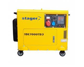 YDE7000TD3  Stager Generator de  curent  cu pornire electrica , putere 5.7 kVA ,  , diesel, trifazat