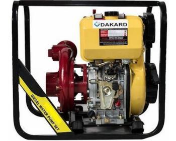 HP 100 DI Dakard Motopompa de apa presiune,motor diesel,putere 13 CP , Debit refulare maxim 110 m3/h cu pornire la sfoara