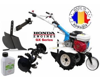 Motosapa AGT 5580 HD motor Honda GX 160 cu plug de bilonat si roti pneumatice