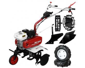 Ms 7000 Basic Motosapa cu roti pneumatice,plug simplu,suport accesorii ,motor  cu putere de 7 cp