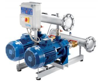 2 BCBT 210/01 Pentax Grup de pompare cu 2 pompe centrifugale si 2 rotoare , putere 2 x 1,5 kW , inaltime de refulare 56,9-34 m , debit maxim 1,2-16,8 l/min