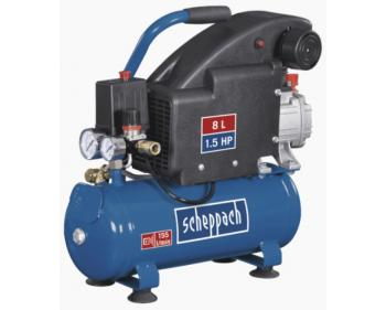 HC 08 Scheppach  Compresor semi-profesional , putere motor 1.1 kW , debit de aspiratie 155 l/min