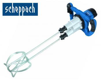 PM1800D Scheppach  Masina de amestecat , putere 1800W Masina de amestecat Scheppach PM 1800D este potrivita pentru amestecarea tencuielilor, mortarului, adezivilor, vopselelor, ect. Cutie de viteze in 2 trepte, turatie reglabila a vitezei. Include 2