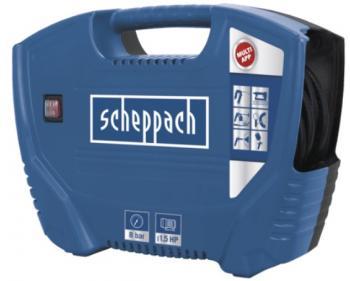 AIR FORCE Scheppach  Compresor semi-profesional , putere motor 1.1 kW , debit de aspiratie 180 l/min