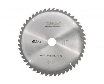 Panza Circular Precision  Metabo  Cut  HW/CT  254 x 30, 48 WZ 5° neg., classic (628061000)