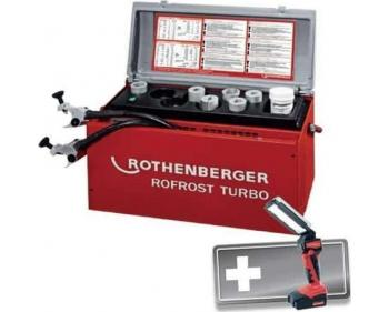 1000001703 , Rothenberger ,  Rofrost Turbo R290 1.1/4 '' ,unitate pt. inghetare conducte , Lampa RO FL 180 cu cumulator Li-Ion 18V/2.0 Ah