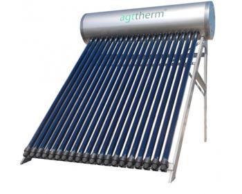 SPTV 300 AgtTherm Sistem solar compact presurizat , 30 tuburi vidate heat pipe +  boiler INOX 300 L