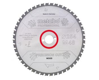 Disc Circular Metabo Precision Cut Wood Professional 315x2.4x30mm 84Z ,cod 628225000